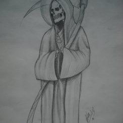Imágenes de la santa muerte para tatuar (13)