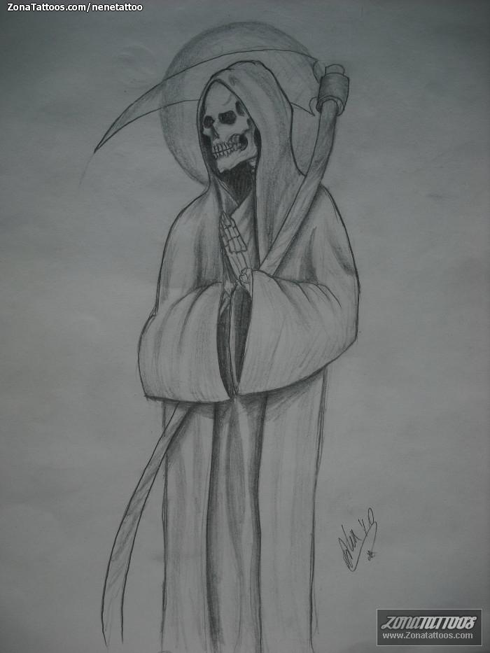 de la santa muerte para tatuar (13) - Imágenes de la Santa Muerte