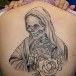 Imágenes de la santa muerte para tatuar (4)