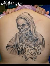 de la santa muerte para tatuar (4) - Imágenes de la Santa Muerte