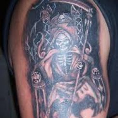 Imágenes de la santa muerte para tatuar (6)