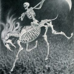 imagenes de la santa muerte a caballo (2)