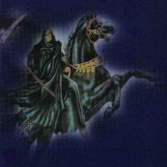 imagenes de la santa muerte a caballo (4)