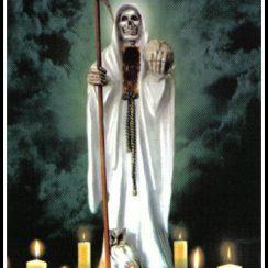imagenes de la santa muerte blanca (7)