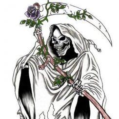 imagenes de la santa muerte blanca (8)