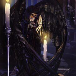 imagenes de la santa muerte en caballo (2)
