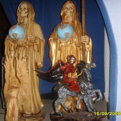 imagenes de la santa muerte en caballo (3)