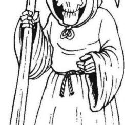 imagenes de la santa muerte en dibujos (1)