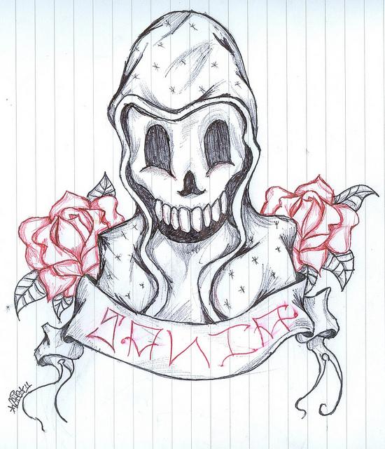 Dibujos de santa muerte para dibujar - Imagui