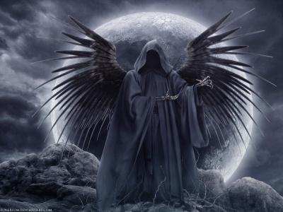 Imágenes de la Santa Muerte con alas