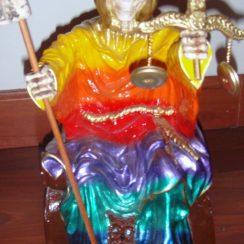 imagen de la santa muerte sentada (2)