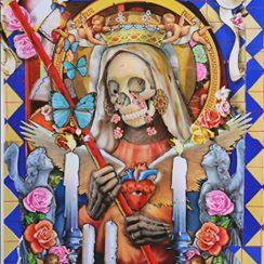 imagenes de la santa muerte con rosas (6)
