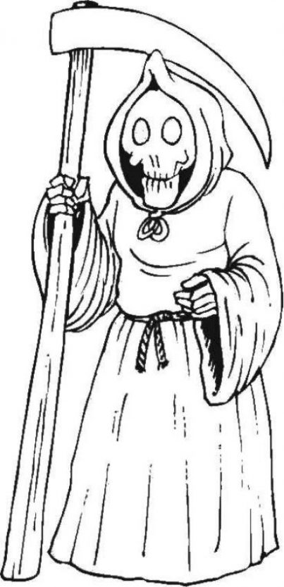 imagenes de la santa muerte en dibujo (1)