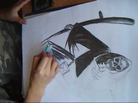 Imágenes de la Santa Muerte en dibujo
