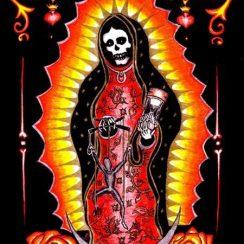 Dibujos de la Santa Muerte con colores
