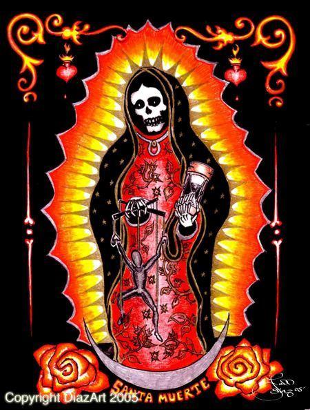 Dibujos de la Santa Muerte con colores (1)