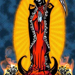 Imágenes de la Santa Muerte en caricatura