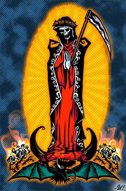 imagenes de la santa muerte en caricatura (1)