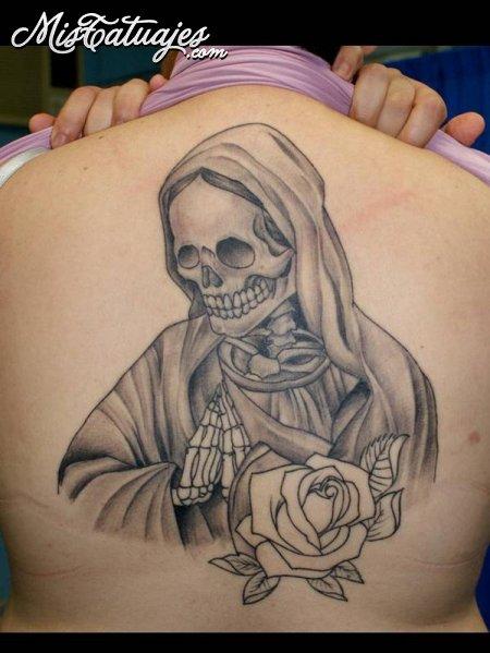 Imgenes de la Santa Muerte para tatuajes  Imgenes de la Santa