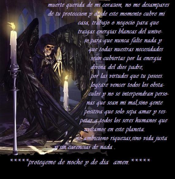 Oración a la Santa Muerte protección de noche y de día ...