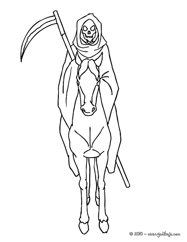 la santa muerte coloring pages - photo #8