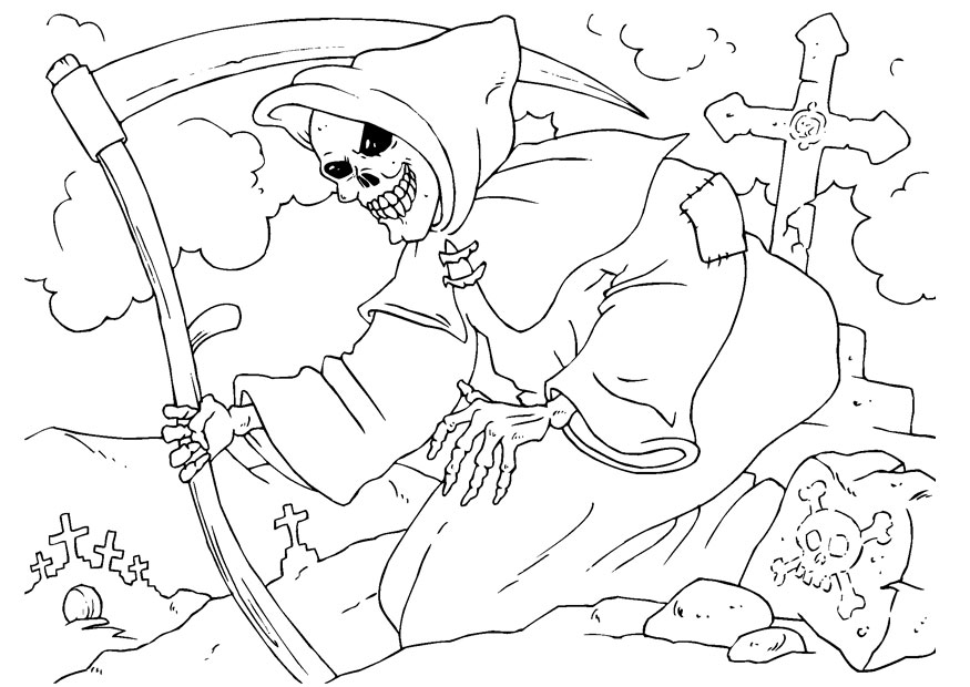 la santa muerte coloring pages - photo #14