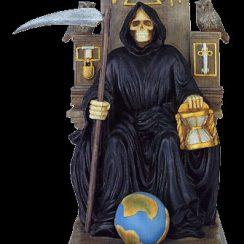 21 imágenes de la Santa Muerte sentada