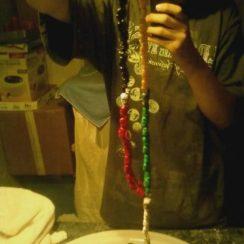Imágenes de rosarios de la Santa Muerte