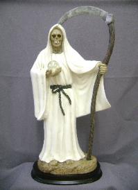 santa muerte blanco
