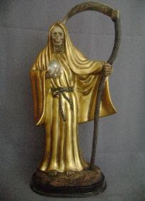 santa muerte dorado