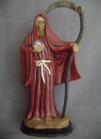 santa muerte rojo