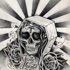 Dibujos de la Santísima Muerte para descargar