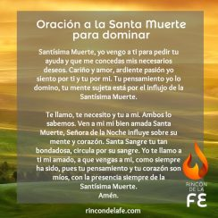 Oraciones de la Santa Muerte para dominar
