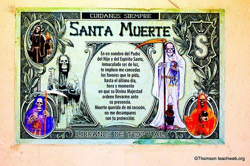 Imágenes de la Santa Muerte con frases chidas (8)
