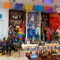 Imágenes de templos de la Santa Muerte