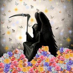 imagenes de la santa muerte con rosas (1)
