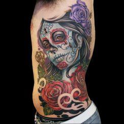 Tattoos de la Santa Muerte originales