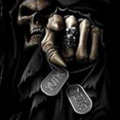 Imágenes de la Santa Muerte negra