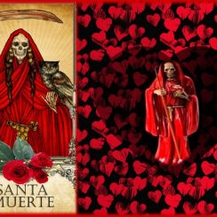 Imágenes de amor y la Santa Muerte